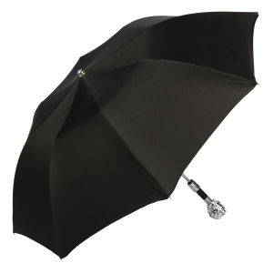 Зонт складной Pasotti Auto Leone Silver Scotland Black фото-2