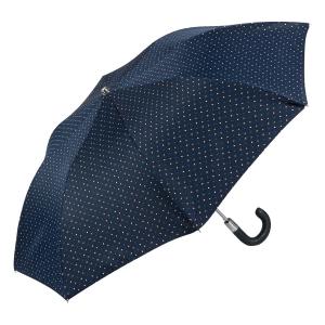 Зонт складной Pasotti Auto Mocasin Dots Blu фото-2