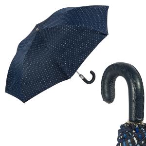 Зонт складной Pasotti Auto Mocasin Dots Blu фото-1