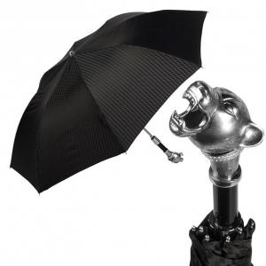 Зонт складной Pasotti Auto Silver Pantera Rombes фото-1