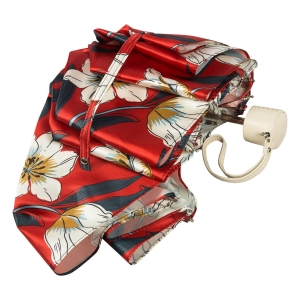 Зонт складной Pasotti  Lis Rosso Pelle фото-4