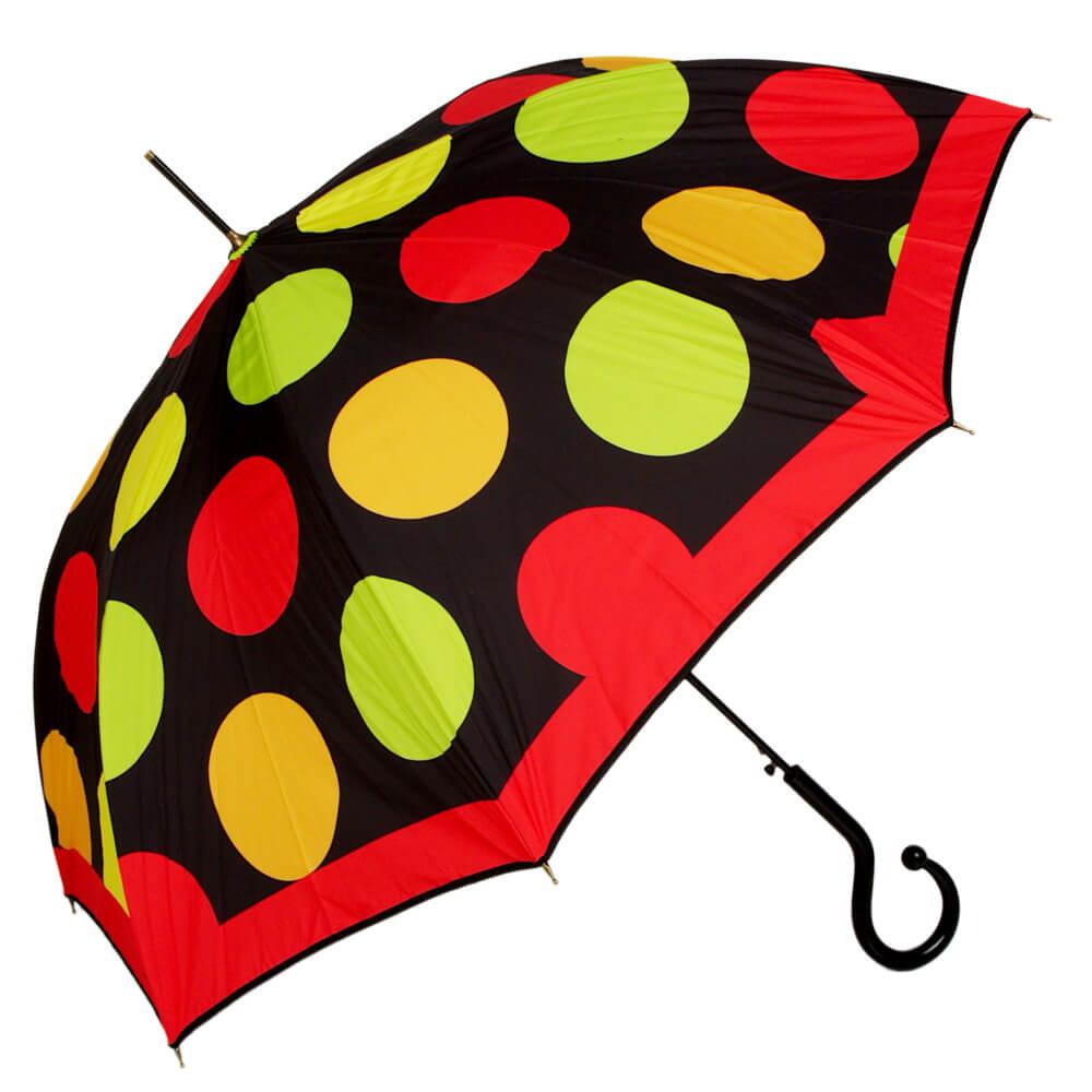 яркий зонт трость, женский