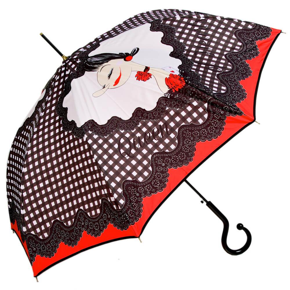купить женский зонт трость, брендовый