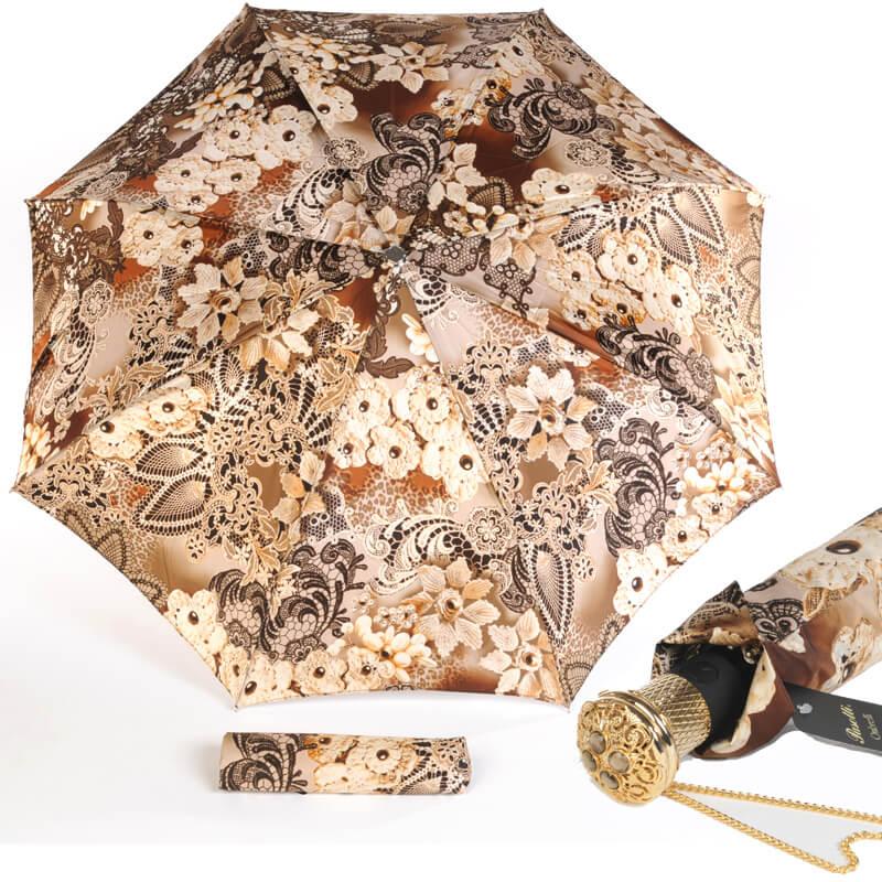 Зонт Складной Pasotti Auto Novita Beige Lux