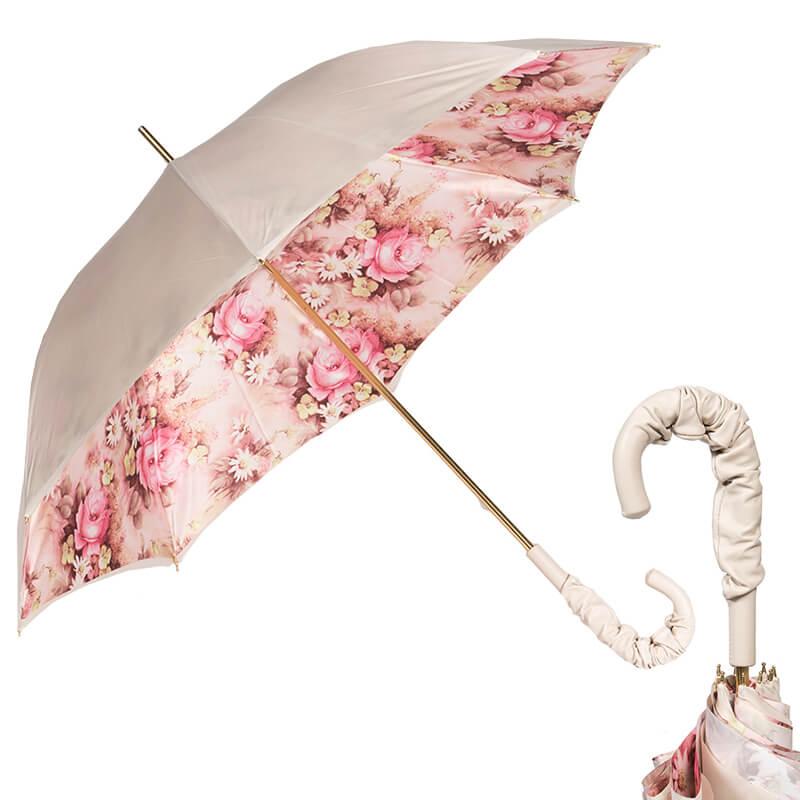 Зонт-трость Pasotti Ivory Daizy Pelle