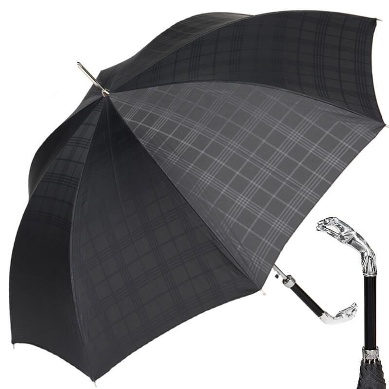 Зонт-трость Pasotti Jaguar Silver Cell Black