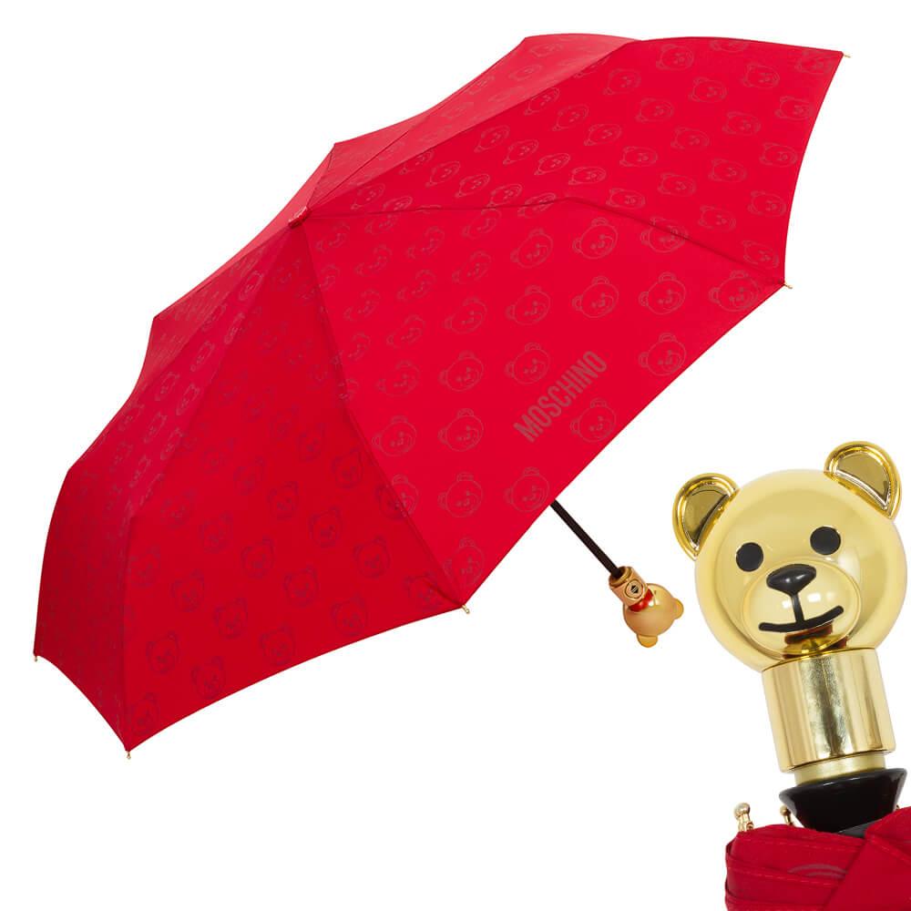 красный женский зонт, автомат