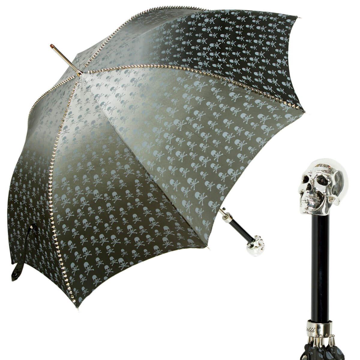 Зонт-трость Pasotti Capo Silver Picco Sculls Grigio