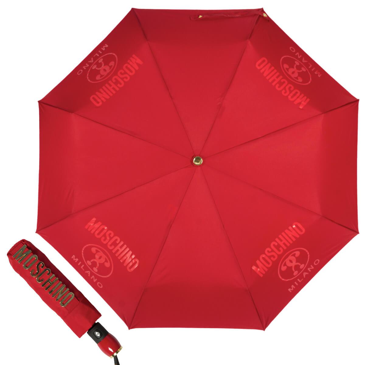 красный женский зонтик, -автомат