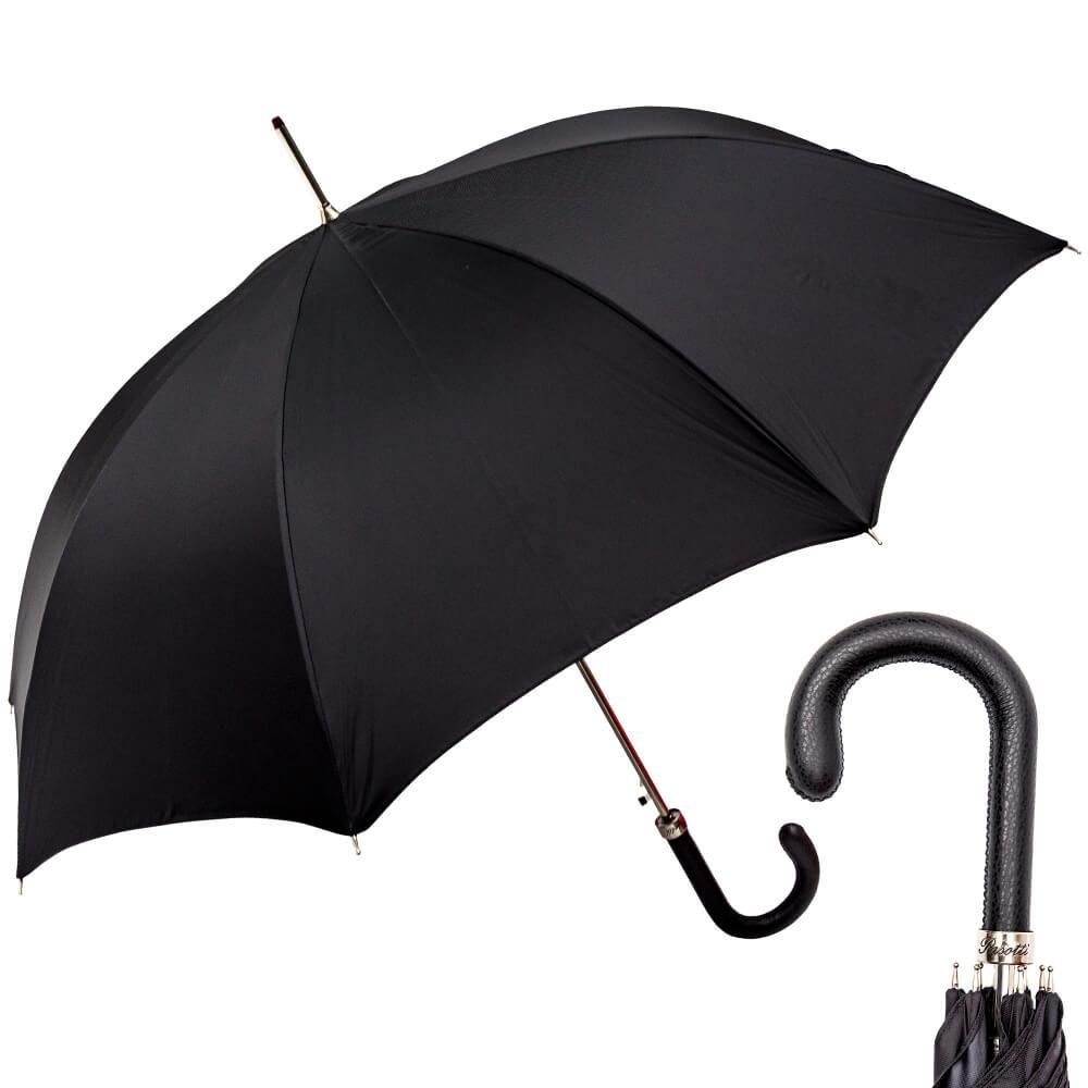 Зонт-трость Pasotti Classic Pelle Oxford Black