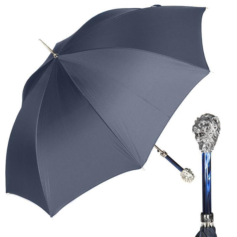 Зонт-трость Pasotti Leone Silver StripesS Dark blu