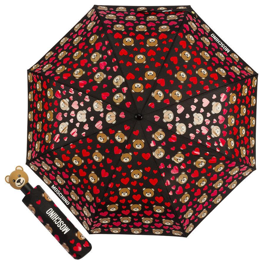 купить зонт moschino , оригинальные брендовые зонты в москве, женский зонт, яркий